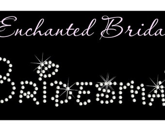 Disney Bridesmaid Rhinestone Transfer DIY Wedding Bling