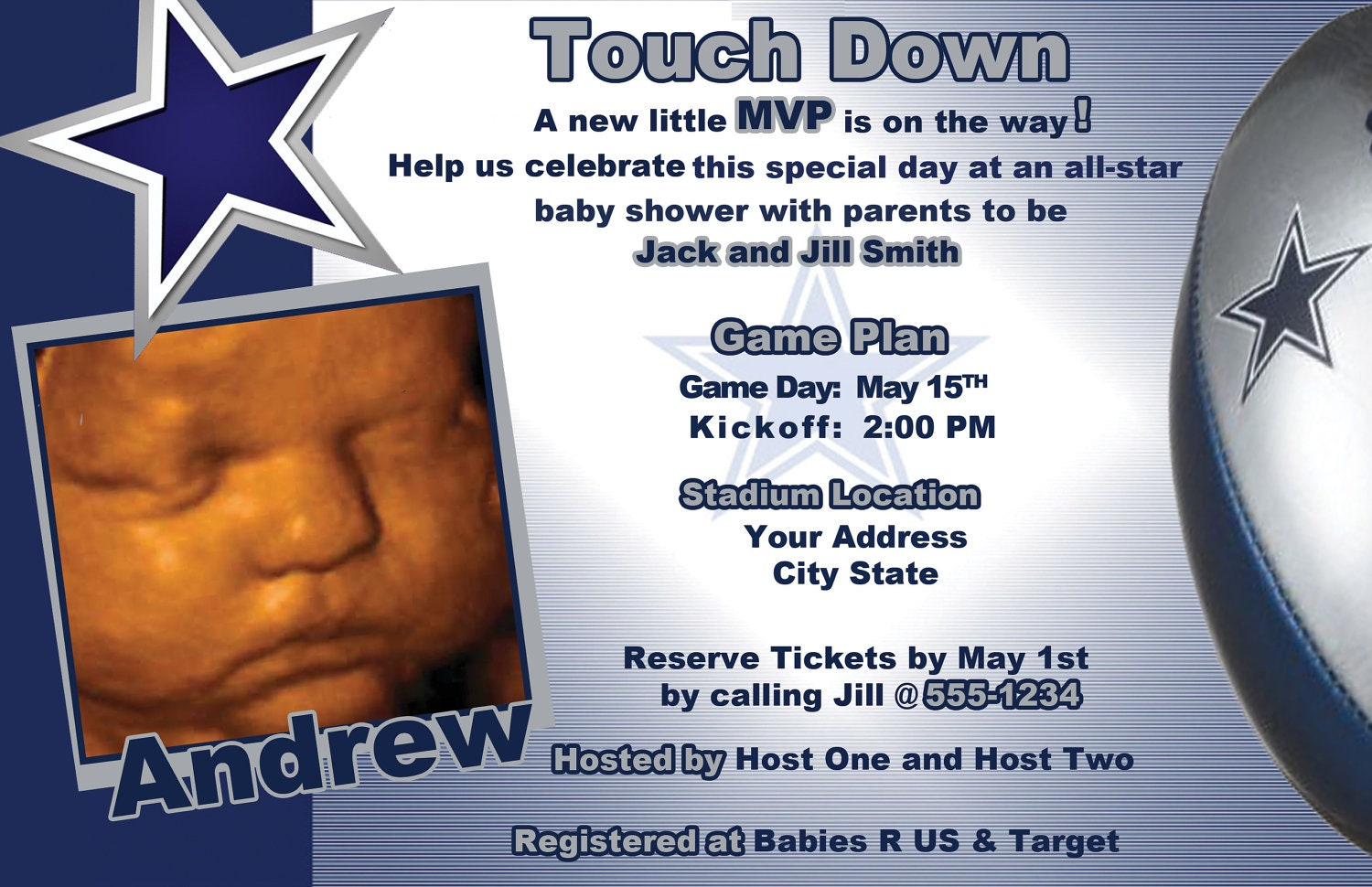Dallas Cowboys Baby Shower Invitations correctly perfect ideas for your invitation layout