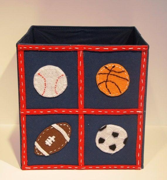Items similar to kids storage bin toy organizer boys for Kids room toy organizer