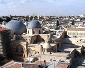 handmade, A photograph of the The two main domes of the Church of the Holy Sepulchre, jerusalem.