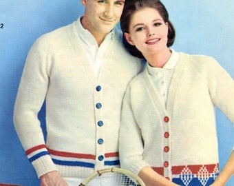 Matching His and Hers Tennis Sweaters Knit Patterns