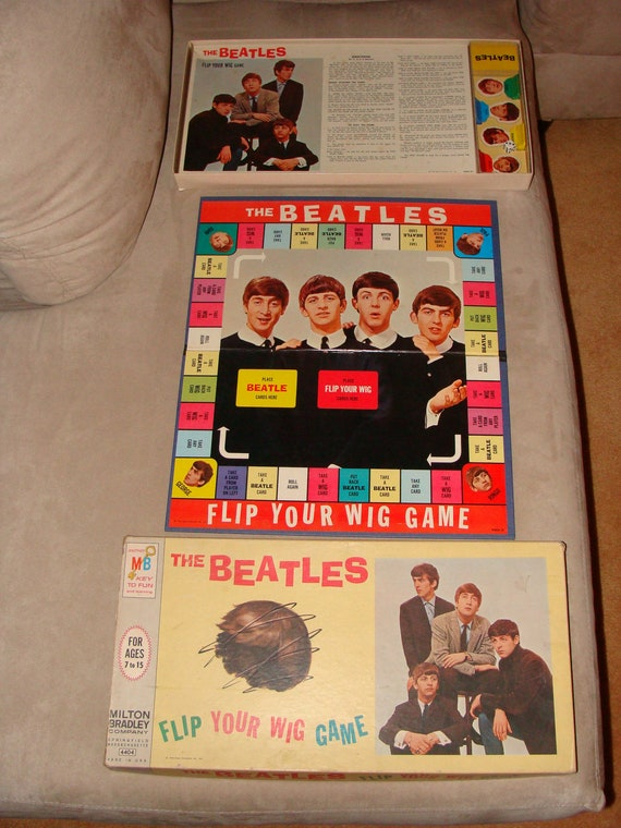 BEATLES Flip Your Wig COMPLETE 1964 Board Game