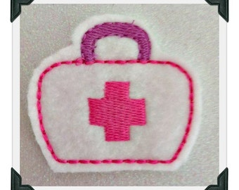 Mediacal Bag Doctor Doc  Embroidery Design Feltie