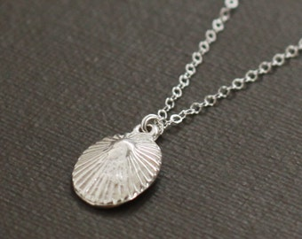 Sterling Silver Hawaiian Opihi Shell Necklace