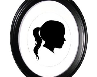 Hand Painted Silhouette Profile - Custom