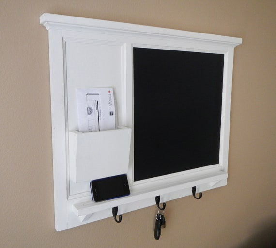 Items Similar To Chalk Board Mail Organizer Letter Holder Key Coat Hat Rack Lightly