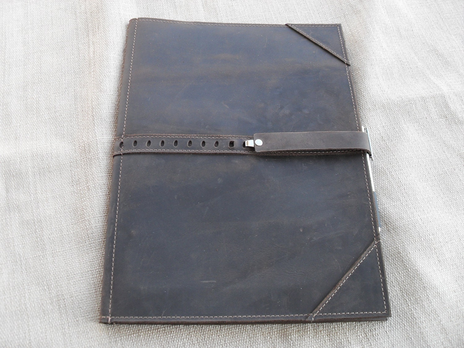 large leather portfolio or writing case the large