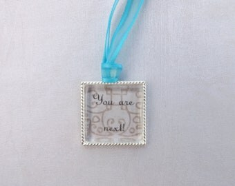 Something Blue Wedding Bouquet Charm, Tossing Bouquet Charm