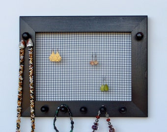 Jewelry Holder, Jewelry Organizer, Earring Holder, Necklace Holder , Wall Mounted jewelry Holder