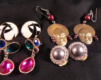 Vintage Earrings Lot Clip and Pierced for All Occasions 1960's-70's