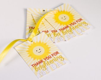 You are my Sunshine Thank You tags (Set of 20)