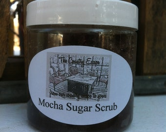 Mocha Sugar Scrub- Avocado Oil- Essential Oils- Exfoliation and Hydration