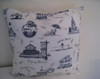 Martha's Vineyard Fabric Pillow Cover