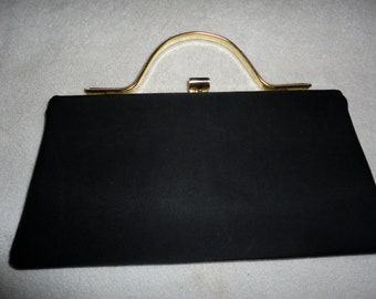 Vintage Black Clutch Purse Evening Bag Hand Bag