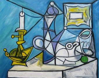 After Pablo Picasso's Still Life with Candlestick