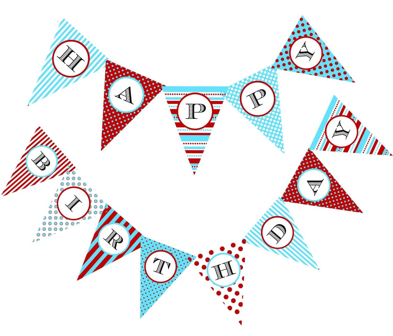 DIY Circus birthday banner printable file