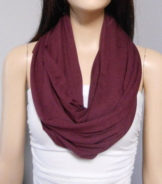 Jersey Infinity scarf maroon. $ Details & Care: 95% Fair trade organic cotton jersey, 5% spandex; Infinity scarf; Made at a fair trade organization in India; Quantity: Add to Cart. This field is required. Related Products. Sari Scarves $ Jersey Infinity scarf emerald $