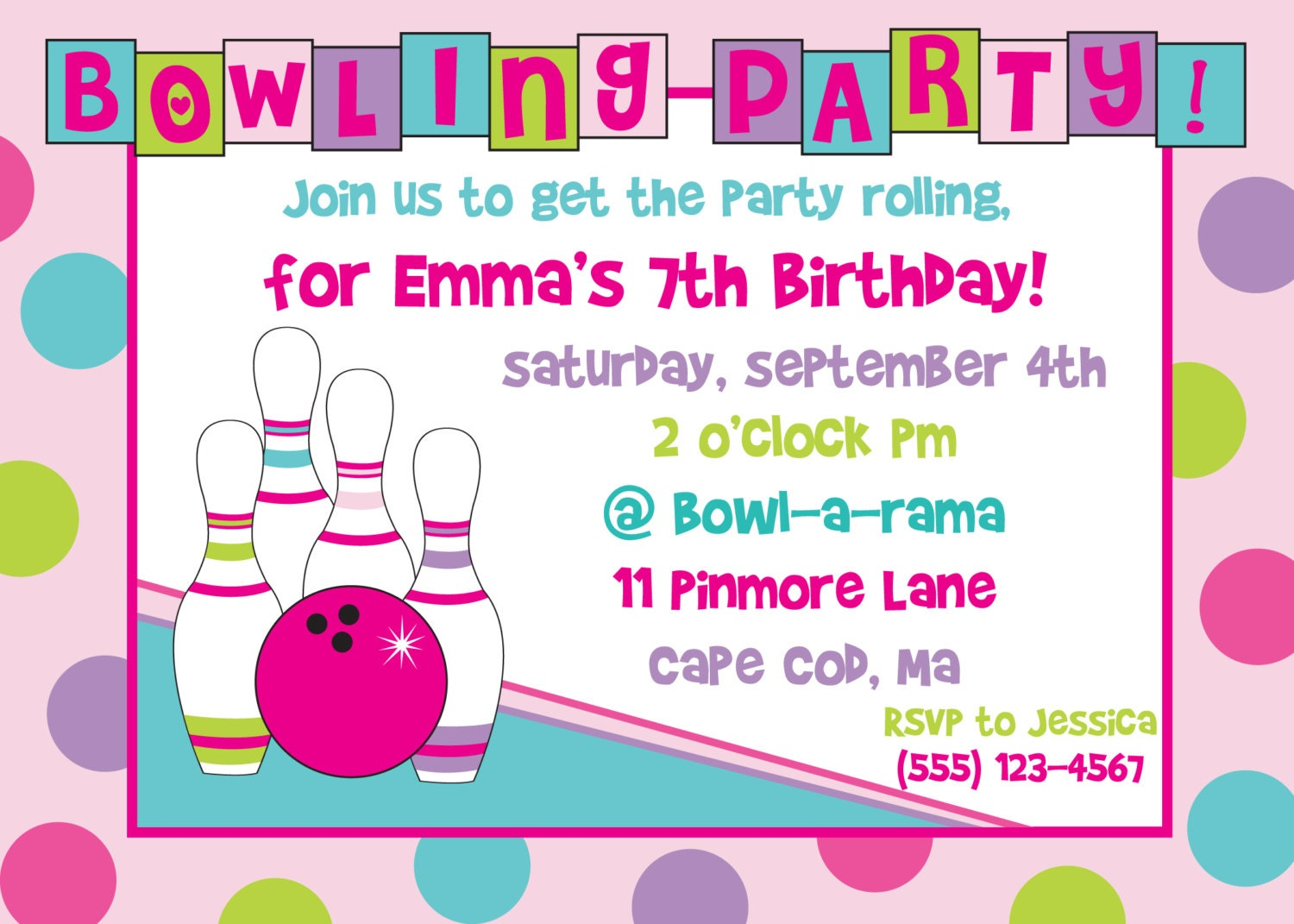 bowling invitation