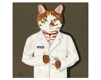 Cat Pharmacist Print