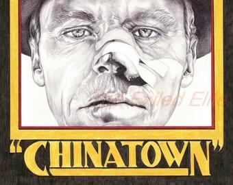 Pencil drawn alternative Chinatown poster