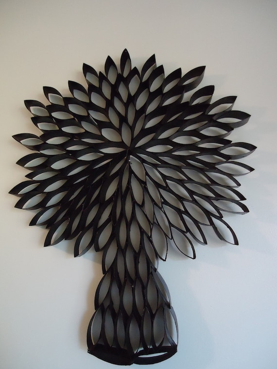 handmade tree wall art made from recycled materials