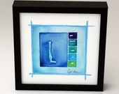 """Original Watercolor Abstract Painting (Flapjack): """"Summer Fresh"""", 6""""x6"""" framed."""