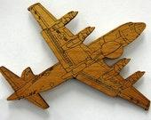 EP-3 (VQ-1) Wooden Fridge Magnet