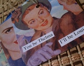 12 Upcycled Anne Taintor Gift Tags