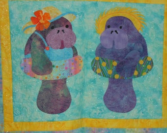 MANNY AND MAXINE quilted wallhanging