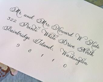 Custom Wedding Invitation Calligraphy  :  'Brandy' style