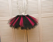Rock and Roll Party Queen Black and Hot Pink Tutu