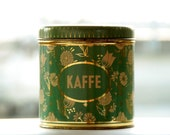 Grandmother's green - yellow - gold coffee can
