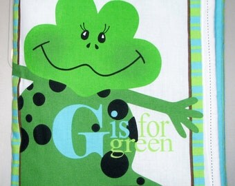 "Children Cloth Book ""G-Is For Green"""