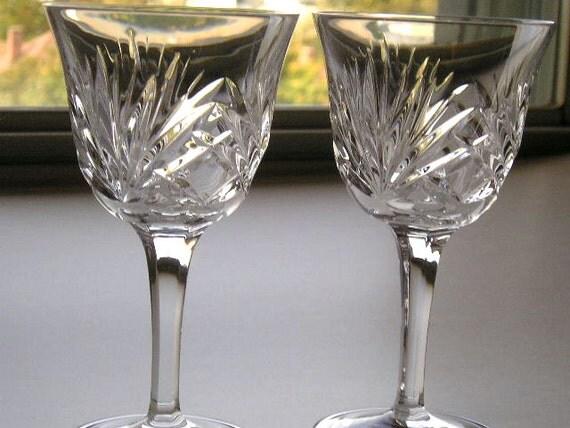 Gorham Crystal Wine Glasses Cherrywood By Creativespiritgoods