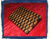 """CUSTOM LISTING for lillollipopsdesigns --- Black Walnut & Hard Maple End-Grain Cutting Board. A """"must-have"""" for the kitchen."""