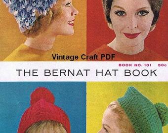 The Bernat Hat Book, Bernat Handicrafter Book No.101, PDF