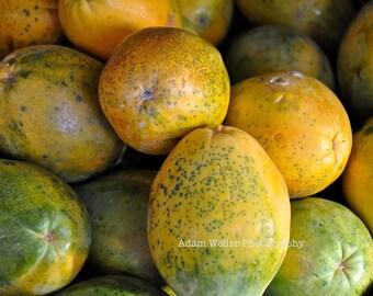 Hawaii, Island, Kitchen Strawberry Papaya - Hilo Farmers Market 8x10 Aloha