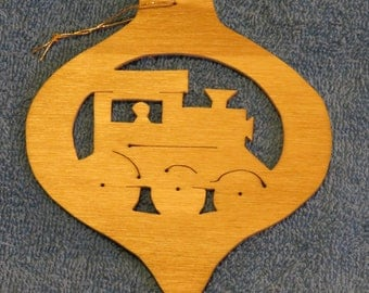 Wooden Steam Engine Ornament