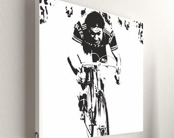 "Cycling - Eddy Merckx No.1 - 55 x 55 cm (21,6"" x 21,6"")"