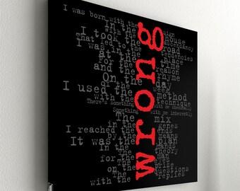 """Depeche Mode - Wrong No.1 - 55 x 55 cm (21,6"""" x 21,6"""")"""