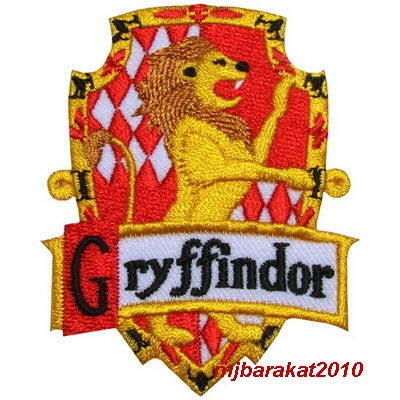 harry potter house gryffindor crest badge iron patch