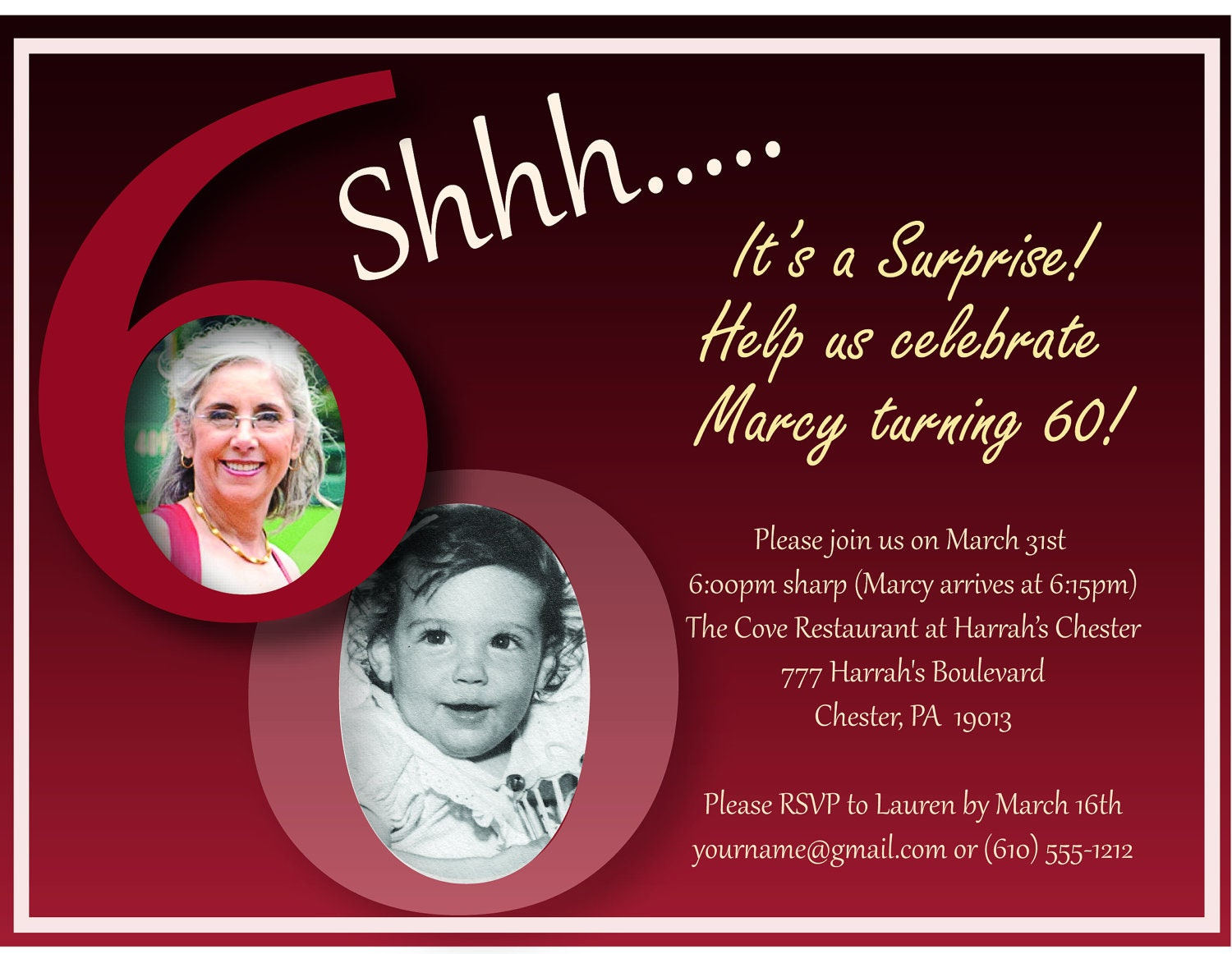 Surprise 60Th Birthday Invitations could be nice ideas for your invitation template