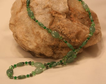 Shades of Green Necklace (1006)