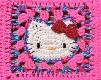 Crochet Kitty Blanket - Pink/Cotton Candy Mix