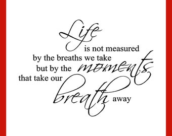Life Is Not Measured...Vinyl Wall Art (LINM-01Large)