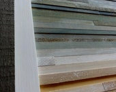 "Coastal Reclaimed Wood Art- 18"" X 18"""