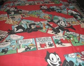 Felix The Cat   Twin Flat Bed Sheet    Vintage 1983