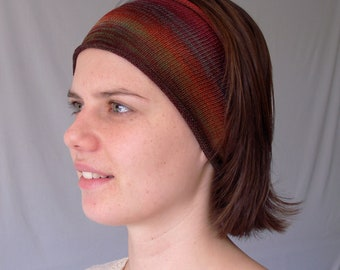 Rustic Earth Hand Dyed Cotton Headband