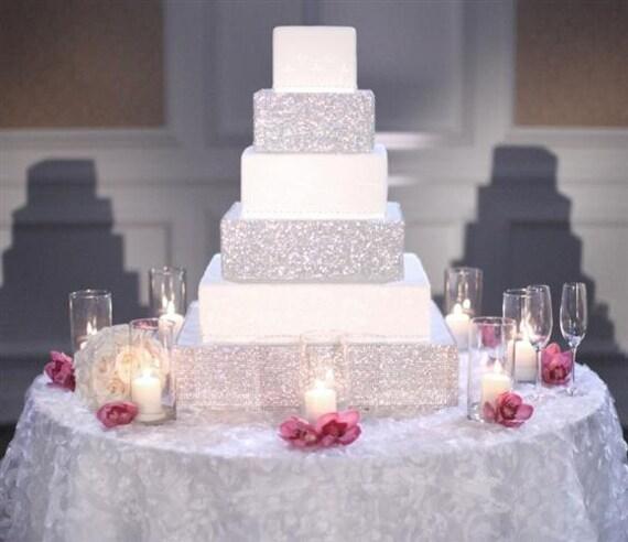 Wedding Cake Bling Beautiful Cakes That Sparkle Shine: Items Similar To Modern Crystal Rhinestone Cake / Cupcake