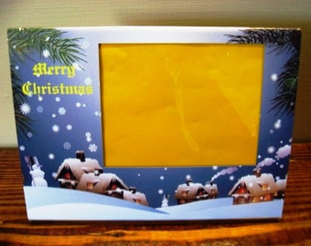 Christmas Picture Frame - Snowy Village